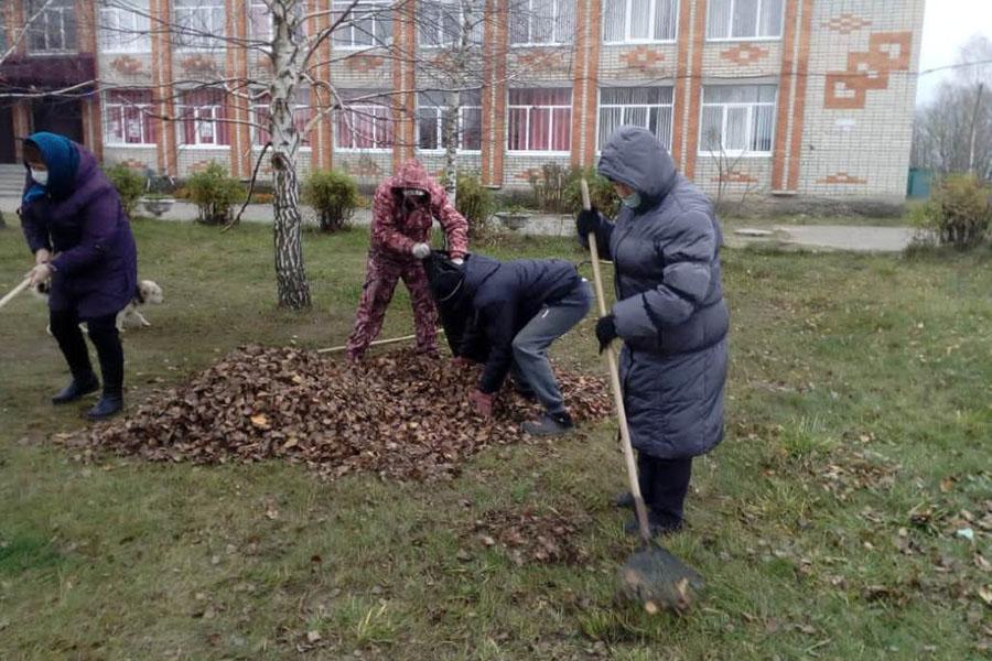 В Клинцовском районе волонтеры проводят акцию «Село – наш дом, мы наведем порядок в нем»