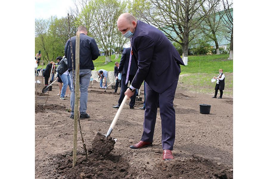 Сегодня, 12 мая, в Брянске заложили городской «Сад Победы»