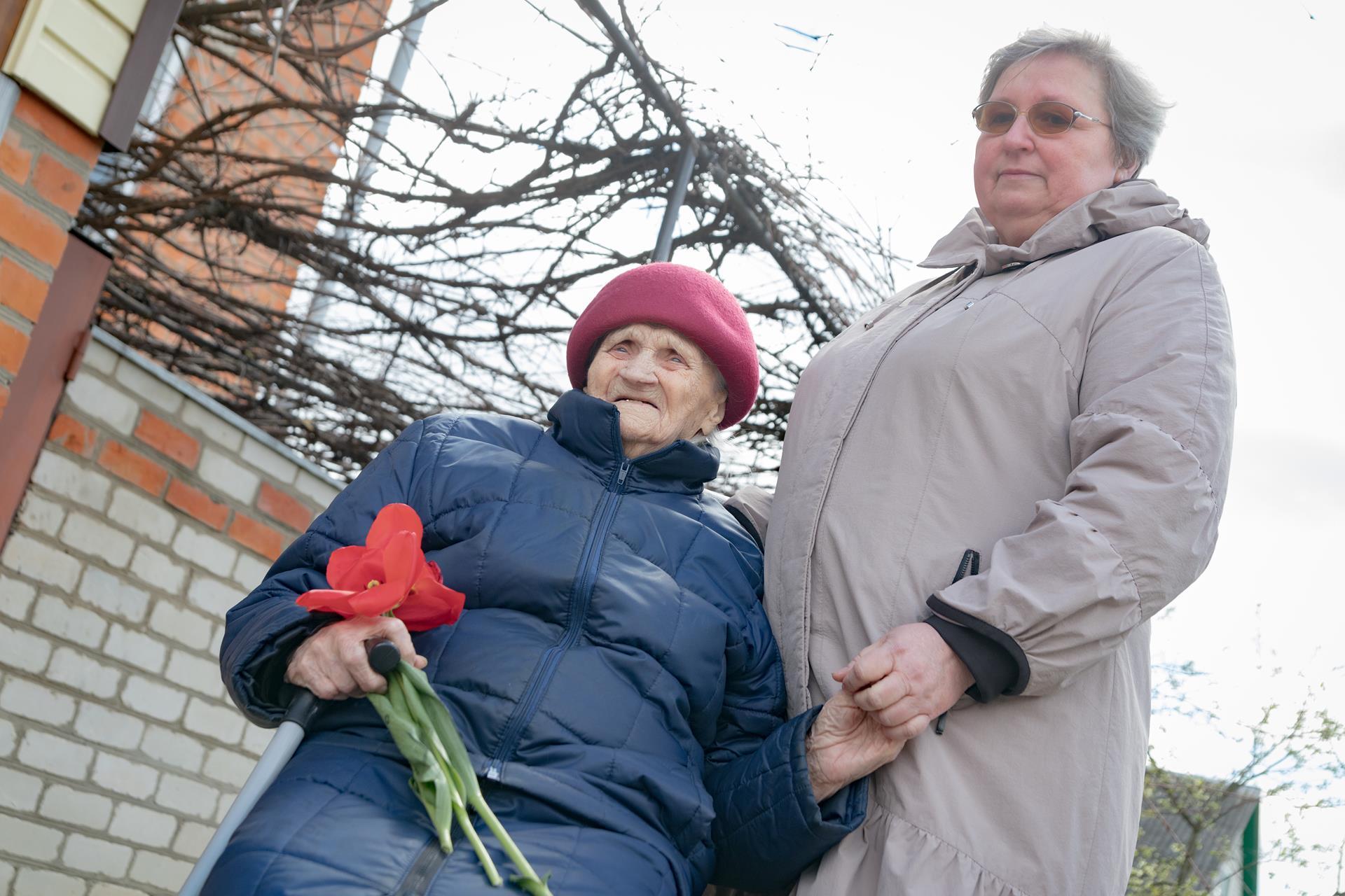 День Великой Победы в Клинцах'2021. Поздравление ветерана Великой Отечественной Войны. Переулок Брянский