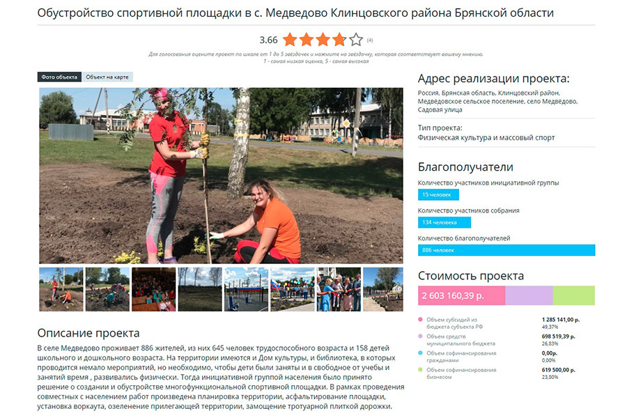 Медведовское сельское поселение участвует в конкурсе проектов инициативного бюджетирования за 2020 год. Давайте поможем выиграть его. ГОЛОСУЙ!