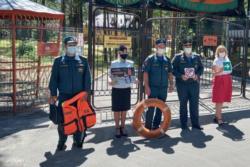 Детям, отдыхающим в санаториях Клинцов и Клинцовского района, рассказали, как спасти жизнь на пожаре, сберечь ее на воде и автодорогах