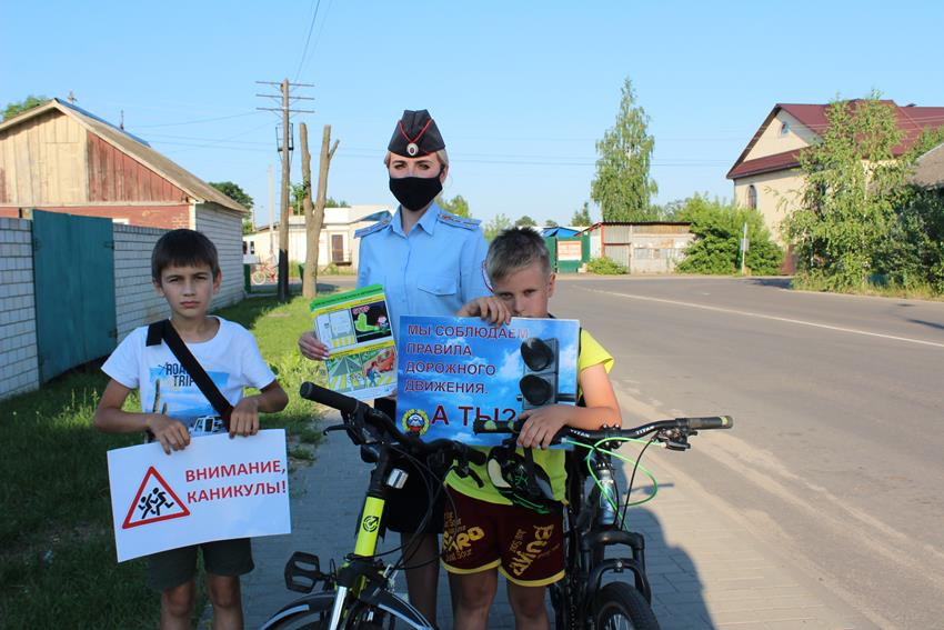 В Клинцах сотрудники ГИБДД провели акцию «Безопасный велосипед»