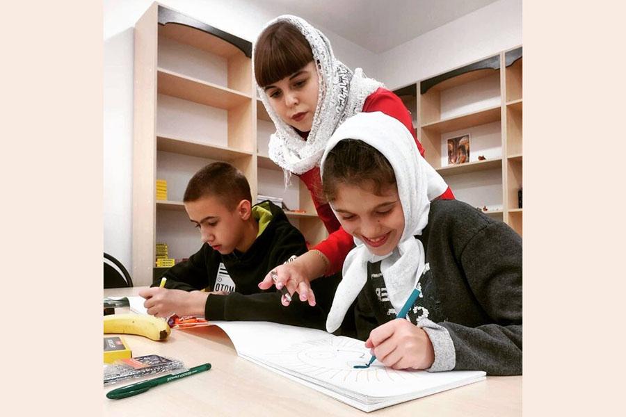 В воскресной школе при Богоявленском кафедральном соборе проводятся занятия с особенными детьми